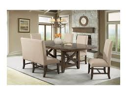 nailhead trim dining chairs elements international franklin dfk100dt rustic dining table