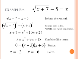 isolate the radical square both sides add 3 to both sides divide each side by 2