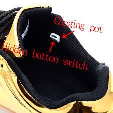 gold light up sneakers usb charging led light up shoes flashing sneakers gold