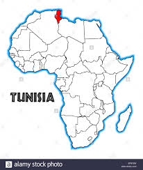 tunisia on africa map tunisia outline inset into a map of africa a white background
