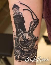 Lighthouse Tattoo Ideas Compass Anchor U0026 Lighthouse Tattoo By Alex Alvarado Vegan