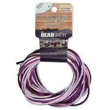 rattail cord beadsmith satin rattail braiding cord 1mm lilac purple mix 4