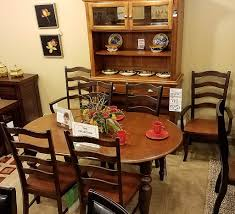 clearance lastick furniture floor coverings pottstown pa 19464 9 pc dining room set includes extension table 4 side chairs 2 arm chairs and 2 pc china