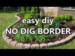 Landscaping Edging Ideas Watch How He Puts In This Easy No Dig Border To Landscape His Yard
