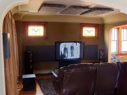 home theater in basement where to place acoustic treatment in a home theater