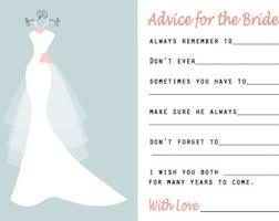 Advice Cards For Bride Printable Wedding Advice Card Fall Advice Bride Bridal