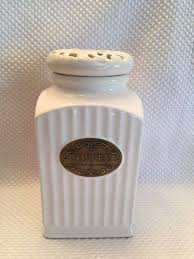 thl kitchen canisters thl classic white shabby chic coffee canister 8 1 4 x