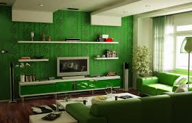 architectures interior home color design with green pattern