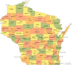 map of county wisconsin county map