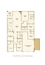 Four Car Garage by New Home Plan 204 In Aledo Tx 76008
