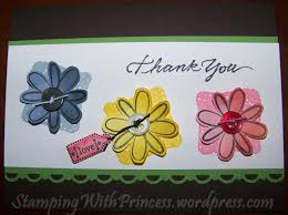 Homemade Flowers Homemade Thank You Flowers And Tag Punch Stamping With Princess
