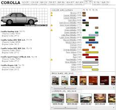 mustard color code toyota corolla touchup paint codes image galleries brochure and tv