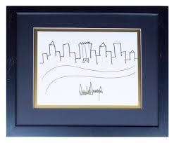 donald trump u0027s sketch of new york city skyline up for auction