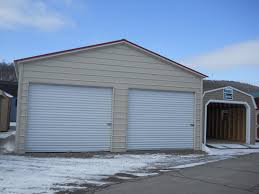 24 x 26 fully enclosed 2 door carport pine creek structures