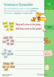 sentence building worksheet education com