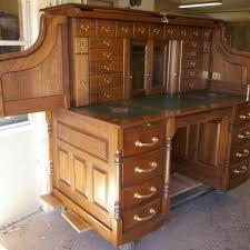 Oak Crest Desk Hand Made Clark Model Quarter Sawn White Oak Roll Top Desk By Roll