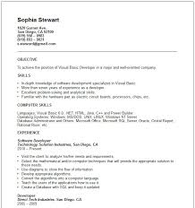 Developer Resume Examples by Basic Resumes Examples Resume Templates