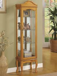 Curio Furniture Cabinet Curio Cabinets 4 Shelf Wood Curio Cabinet With Glass Panels