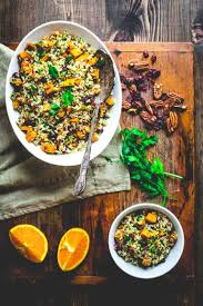 healthy thanksgiving sweet potato recipes brown rice and sweet potato salad healthy seasonal recipes