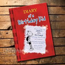 diary of a wimpy kid birthday party invitations