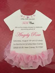 baby shower invitation for in shape of onesie with pink satin