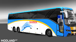 volvo truck and bus facelifted volvo bus mod with skins of indian volvo b9r b11r