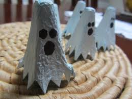 halloween ghost crafts egg carton ghost finger puppet fun family crafts