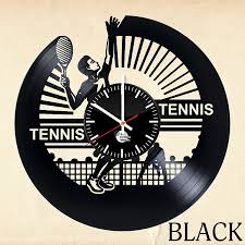 tennis vinyl record wall clock unique gift vinyl clocks