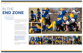 year 11 yearbook exle of the page spread of the chionship football season