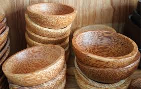 wooden bowl coconut wholesale wood tableware wooden bowl sauce dish no