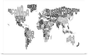 world map black and white with country names pdf poster print wall entitled country names world map black and
