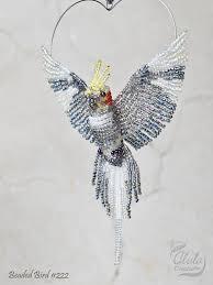 custom order cockatiel ornament bird window decor bird suncatcher