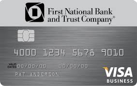 Visa Business Card Credit Cards For Businesses First National Bank And Trust Company