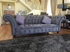 Grey Velvet Chesterfield Sofa Chesterfield Velvet Sofas Ebay
