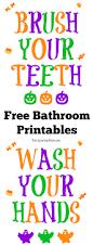 Printable Halloween Signs by Halloween Themed Brush Your Teeth Sign Printable The Suburban Mom