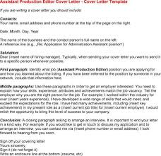 cover letter for production assistant office production assistant