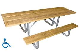 Commercial Picnic Tables by 8 U0027 Ada Wood Picnic Table Commercial Site Furnishings