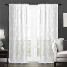 white polyester sheer curtains u0026 drapes window treatments