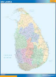 Map Of Sri Lanka Our Sri Lanka Map Wall Maps Mapmakers Offers Poster Laminated