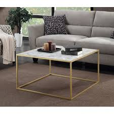 convenience concepts gold coast faux marble end table modern faux marble coffee table lift top with construction of faux