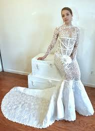 paper wedding dress 10 wedding dresses you won t believe were made of toilet paper