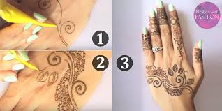 how to draw unique and simple mehndi henna designs see