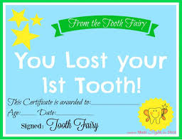 free printable tooth fairy certificate another mum fights the dust