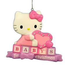 baby u0027s first hello kitty christmas tree ornament personalizable