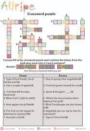 latest resume format 2015 for experienced crossword food crossword puzzle from allripe find the hidden message from