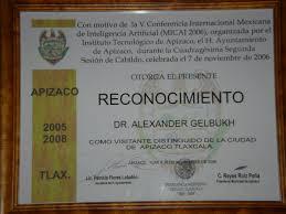 alexander gelbukh curriculum vitae