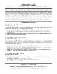 sales resume sles free inside sales rep resumexles support sle account
