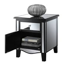 Corner Accent Table Coffee Table Champagne Mirrored Furniture Mirrored Coffee Table