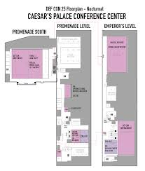 Caesars Palace Property Map Def Con 25 Hacking Conference Venue