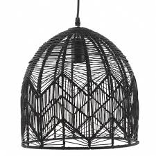 black woven rattan pendant lamp by ella james notonthehighstreet com